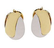 Arte dOro Bold Two-tone Crisscross Hoop Earrings, 18K Gold - J112254