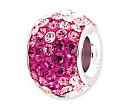 Prerogatives Sterling Fuchsia Crystal Bead - J113154