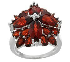 6.50 ct tw Mozambique Garnet Multi-shape Sterling Ring