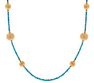 Bronze 36 Gemstone & Bead Station Necklace by Bronzo Italia - J270954