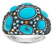 Turquoise & 1.75 ct tw Multi-Gemstone Sterling Ring - J279054