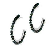 Honora Cultured Pearl 1-1/2 Sterling Hoop Earrings - J279454