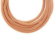 Bronzo Italia Rose 5-strand Tubogas Necklace - J287154