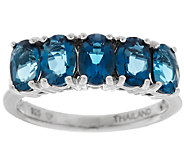 2.25 ct tw Ostro London Blue Topaz Oval Sterling Band Ring - J289454