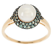 0.50 ct tw Alexandrite & White Cultured Pearl Ring, 14K Gold - J290554