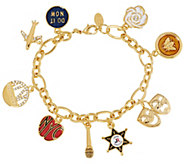 Joan Rivers Lt. Ed. My Favorite Things 7-1/2 Charm Bracelet - J292654