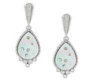 Judith Ripka Diamonique & Mother-of-Pearl Drop Earrings - J293154