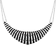18.00 ct tw Black Spinel Sterling Frontal Design Necklace - J295754
