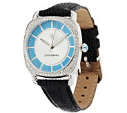 Judith Ripka Stainless Steel or Goldtone Sleeping Beauty Turquoise Watch - J297054