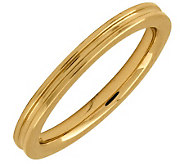 Simply Stacks Sterling 18K Yellow Gold-Pltd 2.25mm Groove Ring - J298054