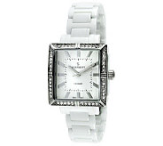 Peugeot Womens Swiss Ceramic Crystal White Dial Watch - J308654