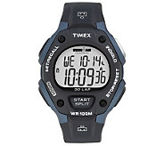 Timex Mens Black and Blue 30 Lap Ironman Watch - J308854