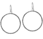 Diamond Fascination Sterling Circle Dangle Earrings - J309954