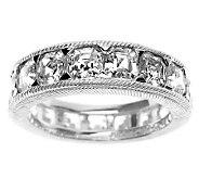 Judith Ripka Sterling Diamonique Eternity Ring - J311454