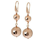 Bronzo Italia Hammered Double Bead Dangle Earrings - J311754