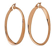 Bronzo Italia 2 Round Twisted Hoop Earrings - J312954