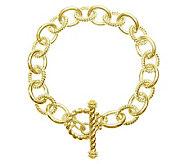 Judith Ripka Astor 7 Link Bracelet, Sterling 14K Clad - J313554
