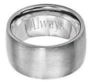 Stainless Steel 12mm Brushed Engravable Ring - J314254