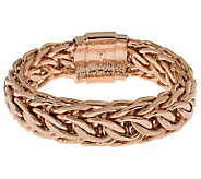 Bronze Average Polished Curb Link Bracelet by Bronzo Italia - J314754