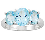Sterling 4.70cttw Choice of 3-Stone Faceted Oval Gemstone Ring - J315854