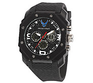 Wrist Armor Mens U.S. Air Force C28 Black & White Watch - J316354