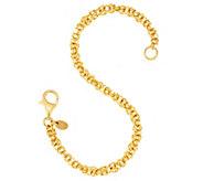 Veronese 18K Clad 6-3/4 Woven Byzantine Bracelet - J317654