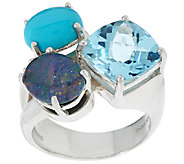 Michael Dawkins Sterling & Multi-Gemstone Ring - J320354