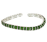 Judith Ripka Sterling & Chrome Diopside Wave Cuff Bracelet - J320454