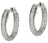 The Elizabeth Taylor Pave Hoop Earrings - J323354