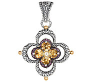 Barbara Bixby Sterling & 18K Citrine & Garnet Flower Enhancer - J324354