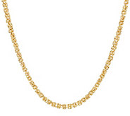 14K Gold 36 Dimensional Byzantine Chain Necklace, 12.7g - J324654