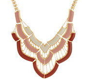 C. Wonder 16 Layered Enamel Bib Statement Necklace - J329254