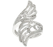 Angel Wing Bypass Diamond Ring, Sterling, 1/5 cttw, by Affinity - J329554