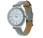 As Is Liz Claiborne New York Perforated Strap Watch - J333254