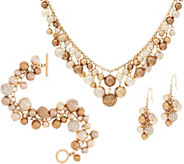 Carolee Madison Avenue Simulated Multi-color Shaky Pearl Set - J351054
