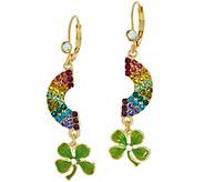 Kirks Folly Rainbow Wishes Clover Leverback Earrings - J353854