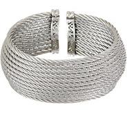 ALOR Stainless Steel 12-Row Wide Cuff Bracelet - J354554