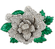 As Is Joan Rivers Jeweled Blossoms Pave Gardenia Pin - J355154