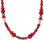 Carolyn Pollack 21 Sterling Beaded Possibilities Necklace - J378354