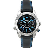 Tourneau Mens Stainless Black and Blue Sport Watch - J380654