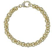 Judith Ripka Verona 14K Clad Basket-Weave Bracelet, 20.5g - J381454