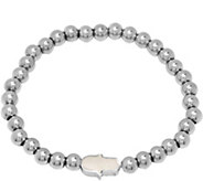 Steel by Design Stainless Steel Beaded StretchBracelet - J383754