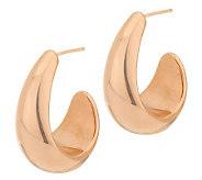 Oro Nuovo Polished Graduated Drop Hoop Earrings 14K - J285555