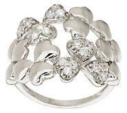 As Is Killarney Crystal Sterling Silver Cluster Ring - J286755
