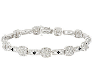 """Product image of Diamond Cluster 8"""" Tennis Bracelet Sterling, 2.5ct by Affinity"""