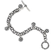 Michael Dawkins Sterling Silver Granulation Drop Bead Chain Bracelet - J295255