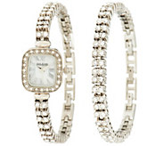Joan Rivers Red Carpet Classic Luxury Crystal Watch & Bracelet Set - J296755