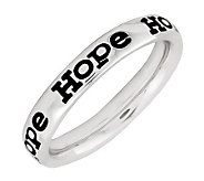 Simply Stacks Sterling Enamel Hope BandRing - J299155