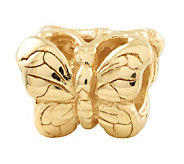 Prerogatives 14K Yellow Gold-Plated Sterling Butterfly Bead - J302855