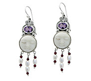 Novica Artisan Crafted Sterling Moon Enchantment Earrings - J304055